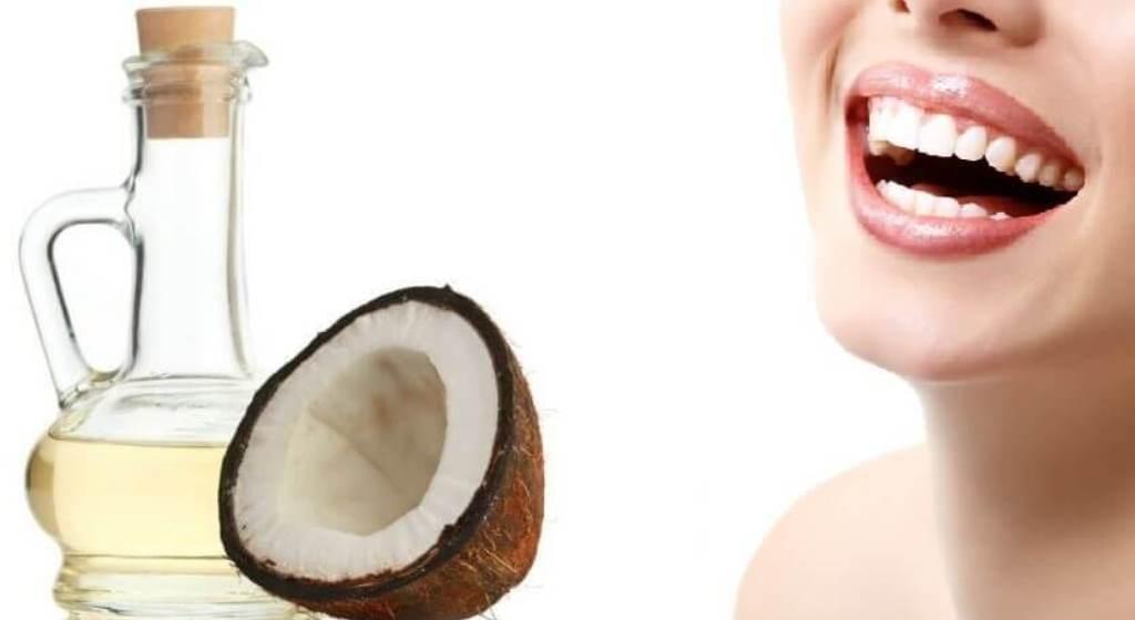 aceite de coco para los dientes
